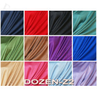 Satin Solid Scarf 1 DZ, Asst. Color