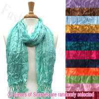 Crinkle Thin Scarf 1 DZ, Asst. Color