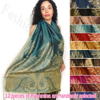 Pashmina w/ Big Paisley Thicker 1 DZ, Asst. Color
