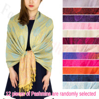 Paisley Leaves Pashmina Pashmina 1 DZ, Asst. Color
