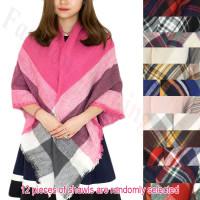 Oversized Blanket Shawls 1 DZ, Asst. Color