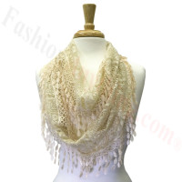 Infinity Lace Scarf Beige