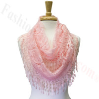 Infinity Lace Scarf Pink