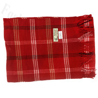 Woven Cashmere Feel Plaid Scarf Z08 Red