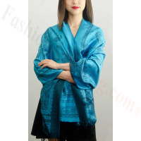 Simple Pasiley Pashmina Turquoise