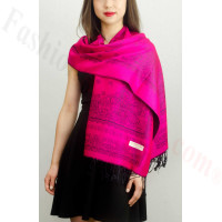 Simple Pasiley Pashmina Fuschia