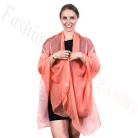 Light Solid Chiffon Shawl Light Orange