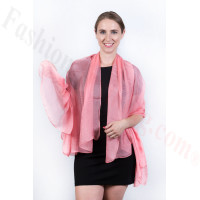 Light Solid Chiffon Shawl Pink
