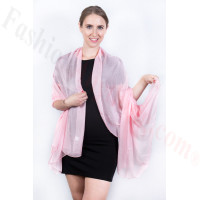 Light Solid Chiffon Shawl Light Pink