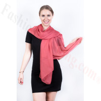 Light Solid Chiffon Shawl Watermelon