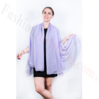 Light Solid Chiffon Shawl Light Purple