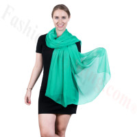 Light Solid Chiffon Shawl Mint Green