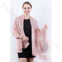 Light Solid Chiffon Shawl Pink Champagne