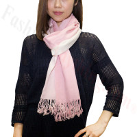 Ombre Solid Print Scarf Pink/White