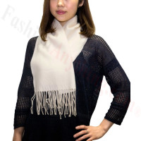 Premium Cashmere Feel Scarf Ivory