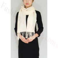 Winter Cashmere Feel Scarf Ivory
