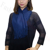 Premium Cashmere Feel Scarf Navy Blue