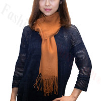 Premium Cashmere Feel Scarf Brown