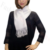 Cashmere Feel Scarf 1 DZ, Silver White