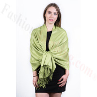 Silky Soft Solid Pashmina Scarf Lime
