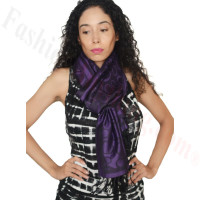 Circle Design Pashmina Dark Purple