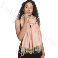 Circle Design Pashmina LightPink/Beige