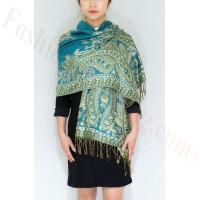 Gorgeous Paisley Pashmina Turquoise/Green