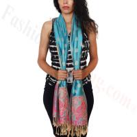 Dots Paisley Pashmina Turquoise