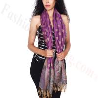 Dots Paisley Pashmina Purple