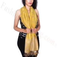 Dots Paisley Pashmina Yellow/Beige