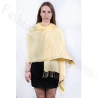 Silky Soft Solid Pashmina Scarf Yellow Dozen (12 Pcs)