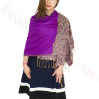 Luxury 2ply Pasiley Pashmina Purple