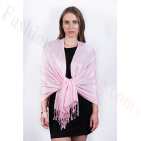 Silky Soft Solid Pashmina Scarf Light Pink