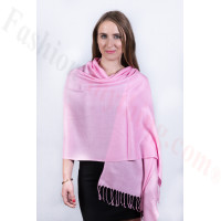 Silky Soft Solid Pashmina Scarf Pink