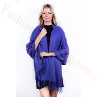 Purple Premium Thick Pashmina