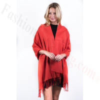 Orange Red Premium Thick Pashmina