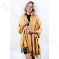 Golden Yellow Premium Thick Pashmina