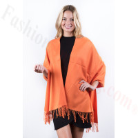 Orange Premium Thick Pashmina