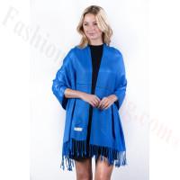 Royal Blue Solid Pashmina Label Scarf