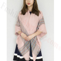 Oversized Blanket Shawls Light Pink