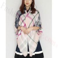 Oversized Blanket Shawls Multi Beige Pink