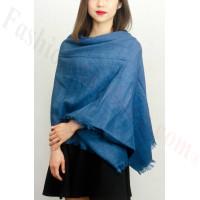 Warm Soft Scarf Shawl Blue