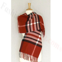 Cashmere Feel Classic Shawl Red