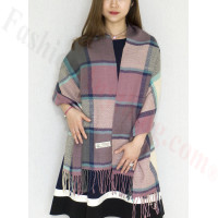 Cashmere Feel Scarf Purple/Grey