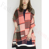 Cashmere Feel Scarf Red/Brown