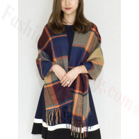 Cashmere Feel Scarf Navy