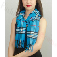Woven Cashmere Feel Classic Scarf Bright Blue