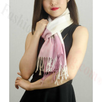 Woven Cashmere Feel Checker Scarf Z09 Beige/Black