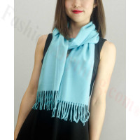 Solid Cashmere Feel Scarf Bright Blue