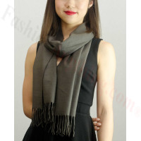 Solid Cashmere Feel Scarf Charcoal